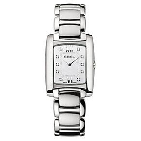 Ebel ladies' rectangular diamond dial & bracelet watch - Product number 9010998