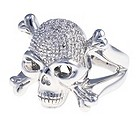Silver & Diamond Skull Ring - Product number 9011854