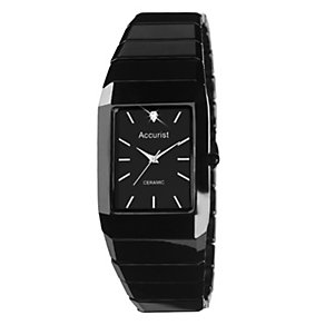 Accurist Men's Black Ceramic Bracelet Watch - Product number 9012834