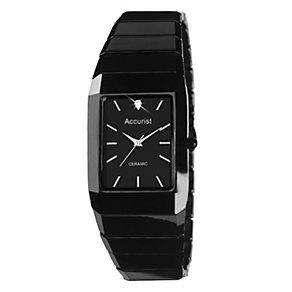 Accurist Men's Black Ceramic Bracelet Watch - Product number 9012834