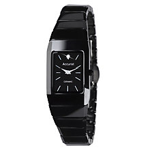 Accurist Ladies' Black Ceramic Bracelet Watch - Product number 9012842