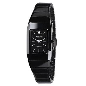 Accurist Ladies' Black Ceramic Bracelet Watch - Product number 9012842