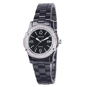 Accurist Black Ceramic Bracelet Watch