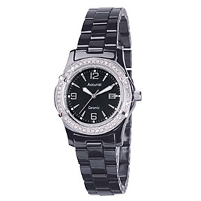 Accurist Black Ceramic Bracelet Watch - Product number 9012869