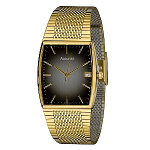 Accurist Men's Gold Plated Bracelet Watch - Product number 9012907