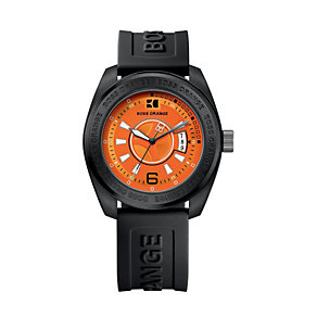 Boss Orange men's black rubber strap watch - Product number 9012974