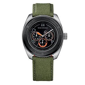 Boss Orange Men's Green Strap Watch - Product number 9013040