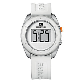 Boss Orange Men's White Strap Watch - Product number 9013083