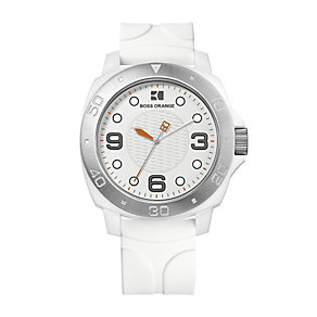 Boss Orange white strap watch - Product number 9013172