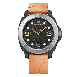 Boss Orange Men's Orange Strap Watch - Product number 9013199