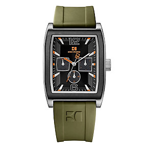 Boss Orange Men's Green Strap Watch - Product number 9013296