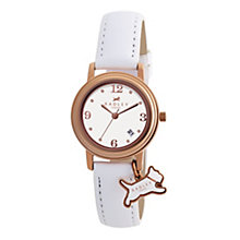 Radley Ladies' White Leather Strap Watch - Product number 9013520