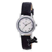 Radley Ladies' Black Dog Charm Watch - Product number 9014144