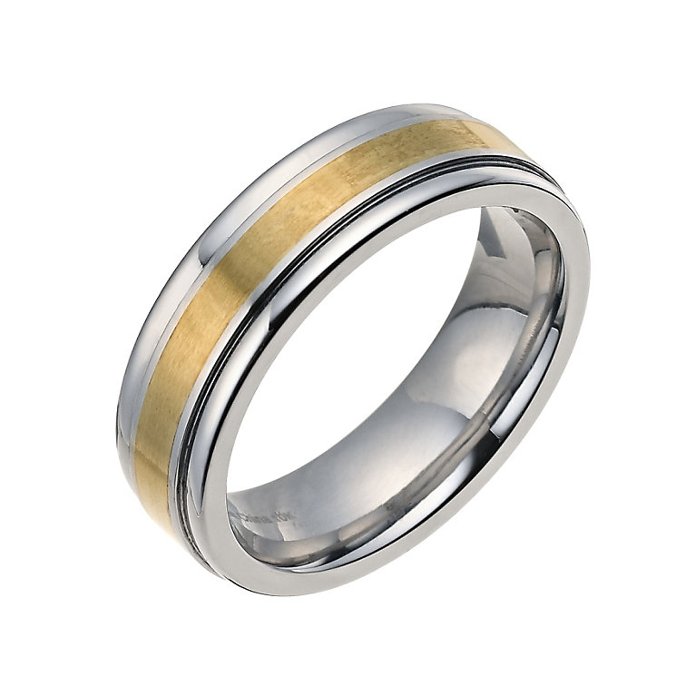 9ct gold and cobalt wedding ring - Product number 9014195