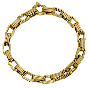 9ct Yellow Gold Big Belcher Bracelet - Product number 9014373