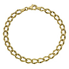 9ct Yellow Gold Oval Link Bracelet - Product number 9014403