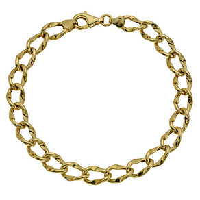 9ct Yellow Gold Oval Link Bracelet - Product number 9014411