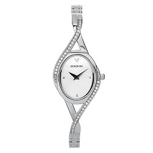 Sekonda Ladies' Stainless Steel Stone Set Watch