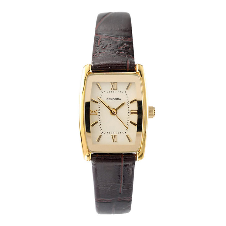Sekonda Ladies' Brown Leather Strap Watch - Product number 9015728