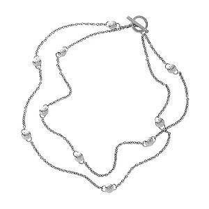DKNY logo necklace