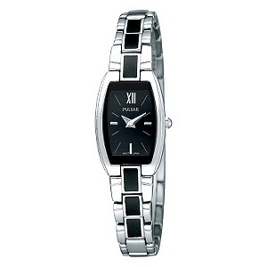 Pulsar Ladies' Black Strap Watch - Product number 9018786