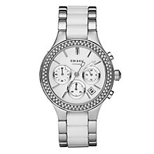 Dkny Ladies' Stainless Steel & White Ceramic Bracelet Watch - Product number 9019073