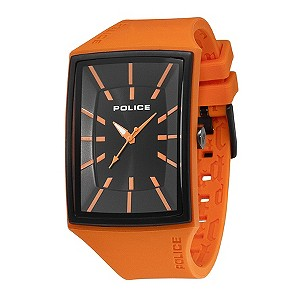 Police Men's Vintage Orange Stripe Black Dial Watch - Product number 9020020