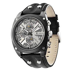 Police Enforce Black Strap Chronograph Watch - Product number 9020187