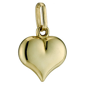 9ct Yellow Gold Heart Charm - Product number 9020659