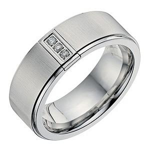 Men's Cobalt 3 Diamond Ring