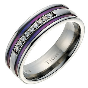 Men's Diamond & Blue Ring - Product number 9022031