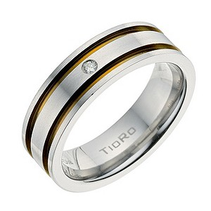 Tioro Titanium Diamond Ring
