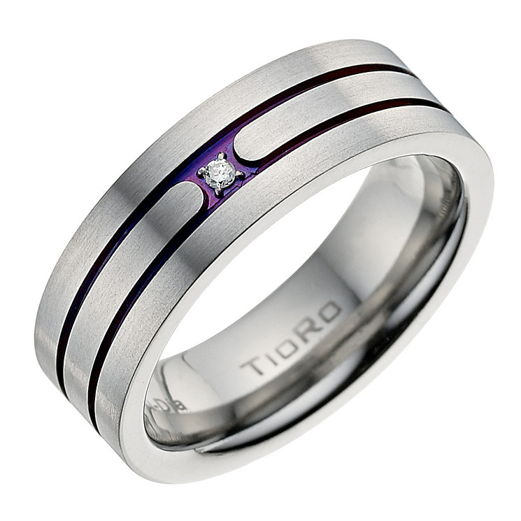 Titanium Diamond Ring - Product number 9022309
