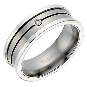 Men's Diamond Groove Ring - Product number 9022430