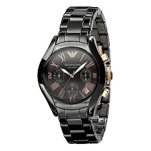 Emporio Armani Ceramica men's black bracelet watch - Product number 9022988