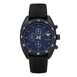 Emporio Armani Black Rubber Strap Watch - Product number 9023216