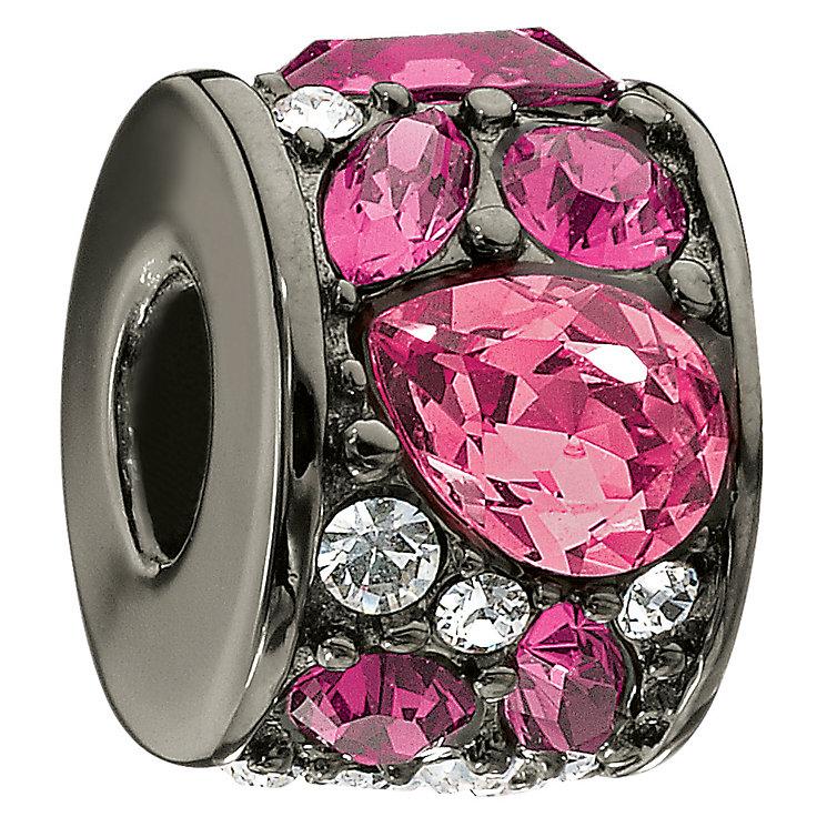 Chamilia silver mosaic multi fuchsia Swarovski crystal bead - Product number 9023771