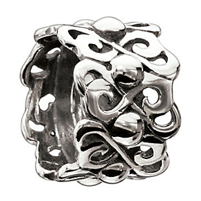 Chamilia silver heart to heart bead - Product number 9023992