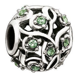 Chamilia Peridot Vine Leaves Bead - Product number 9024611