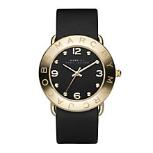 Marc Jacobs Ladies' Gold Tone & Black Strap Watch - Product number 9025162