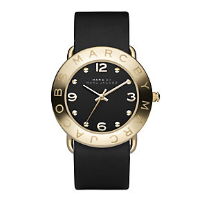 Marc by Marc Jacobs gold plated & black strap watch - Product number 9025162