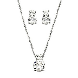 Swarovski brilliant cut crystal pendant and earrings set - Product number 9025340