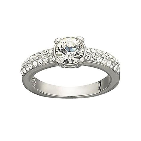 Swarovski dazzle ring - size O