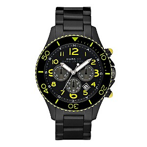 Marc By Marc Jacobs men's black chronograph watch - Product number 9025847