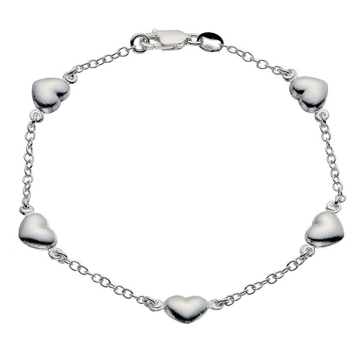 Silver Heart Station Bracelet - Product number 9027033