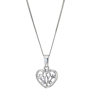 Silver Filigree Heart Pendant - Product number 9027092