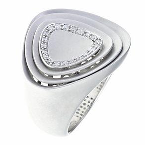 Silver & diamond matt finish ring - Product number 9027475