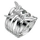 Silver & diamond dragonfly ring - Product number 9028005