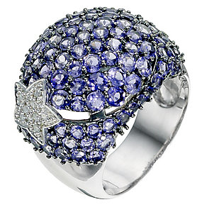 Silver & diamond shooting star ring - Product number 9028137