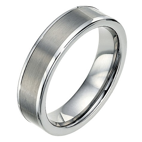 Tungsten two tone polished edge ring